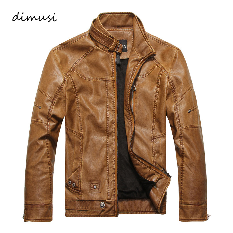 Men Autumn Winter <font><b>Leather</b></font> Jacket Motorcycle <font><b>Leather</b></font> Jackets Male Business casual Coats Brand New clothing veste en cuir,YA349