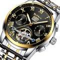 Mannen Mode Horloge BIDEN Merk Casual Bussiness Automatische Mechanische Horloges Waterdicht Mannelijke Klok Cadeau