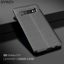For Phone Case Samsung Galaxy S10 Luxury Rubber for Silicone Back Cover Shell