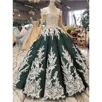 ANGEL NOVIAS Long Royal Ball Gown Luxury Green Saudi Arabia Wedding Dresses 2018 Abito Da Sposa Principess Trouwjurk