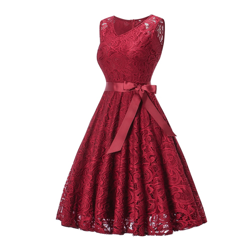 OML510 V neck Wine red Bow Short Bridesmaid Dresses wedding party ... d306bb12d3a2