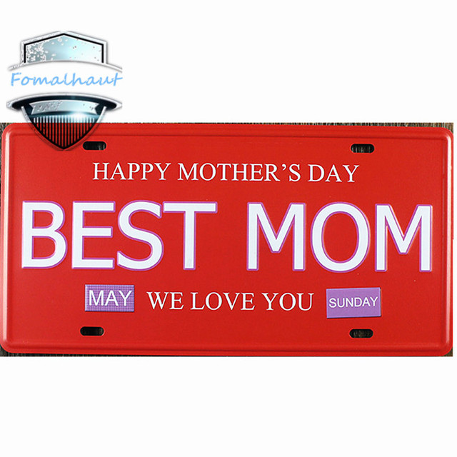 Vintage Car Plate  BEST MOM  Wall Art Craft Vintage Metal Signs for Bar Decor  sc 1 st  AliExpress.com : decorative car plates - Pezcame.Com