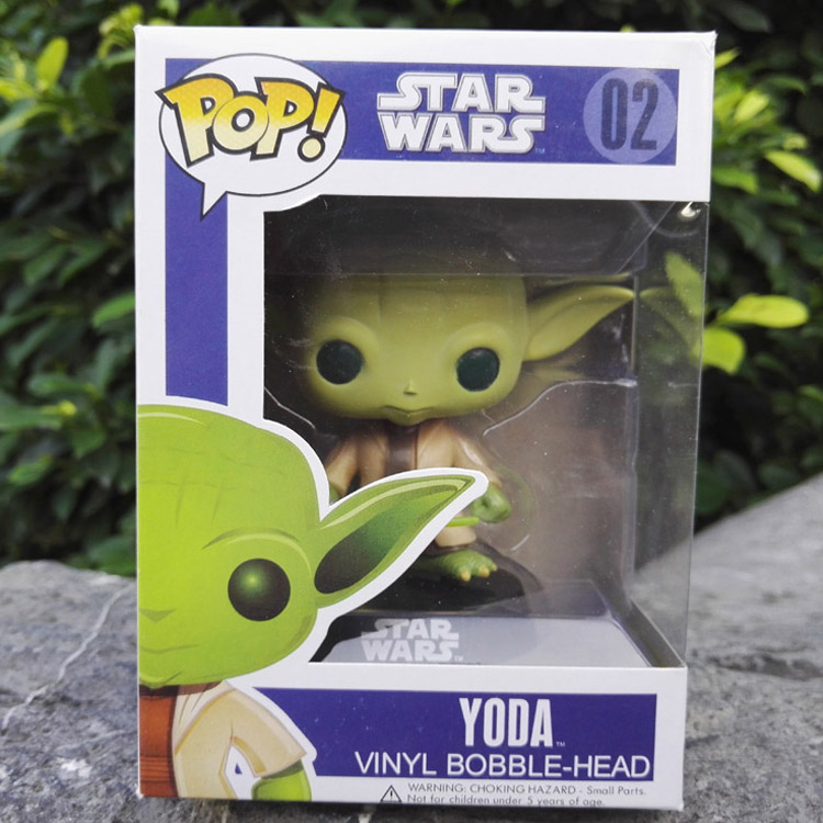 New Funko Pop Star Wars YOOA No.02 Vinyl Bobble-Head PVC Action Figure Toys Collectible Q Style Model Gift free shipping  funko pop marvel the hulk no 08 red hulk no 31 iron man vinly bobble head pvc action figure collectible model toy gift for kids