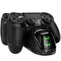 PS4 controlador de cargador controlador Ps4 estación de acoplamiento de carga LED indicadores de luz de fondo PS4/PS4 Slim/PS4 Pro Control