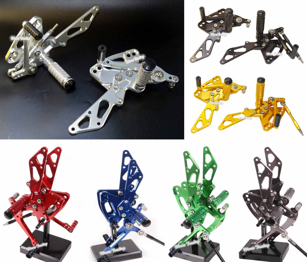 waase CNC Aluminium Adjustable Rider Rear Sets Rearset Footrest Foot Rest Pegs For KAWASAKI Z1000 2011 2012 2013 2014 2015 2016 adjustable rider rear sets rearset footrest foot rest pegs gold for suzuki gsxr600 gsxr750 gsxr 600 750 2011 2012 2013 2014 2015