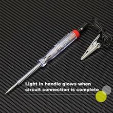 6/12/24V Circuit Tester Long probe Continuity Light Pen Detector Voltage