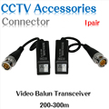 Hiseeu Wholesale Free shipping 2 Passive Video Balun UTP BNC Cat5 Transceiver CCTV camera 4pair discount