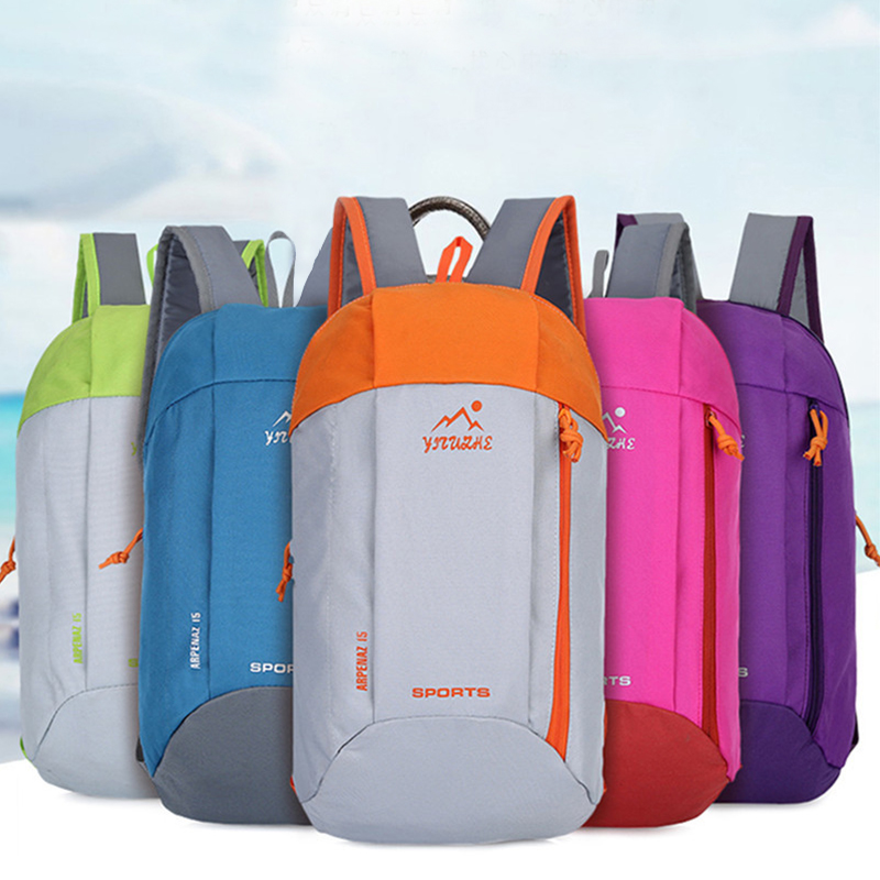 Outdoor Sport Light Weight 10L Hiking Backpack Knapsack Travel Waterproof Bag Zipper Adjustable Belt Camping Laptop Soft