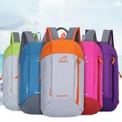 Открытый Спорт легкий вес 10L пеший Туризм рюкзак дорожная сумка на молнии Регулируемый ремень Кемпинг ноутбук Мягкий
