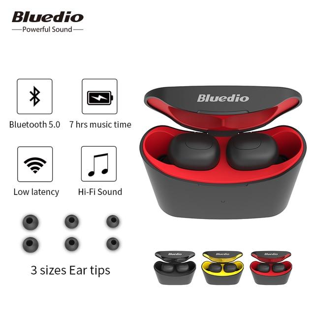 Bluedio беспроводные bluetooth наушники T-elf TWS стерео наушники гарнитура с зарядным устройством Встроенный микрофон для мобильных телефонов
