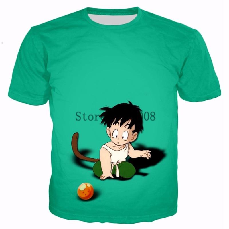 Harajuku T-shirts 2017 Summer Fashion Men Women tee shirt Cute kid Goku 3d print casual Hip hop t shirt Brand Clothing R3178