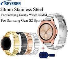 For Samsung Galaxy Watch 42mm Gear S2 Sport Strap Band  Metal Bracelet Stainless Steel Wristband