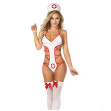 New Arrivals Nurse Costume Cosplay Temptation Hot Sexy Erotic Lingerie Hot Female Sexy Underwear Red Cross Uniform Games