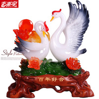 Girlfriends wedding gift to send wedding gifts creative wedding upscale utility room living room furniture craft Swan Decoration