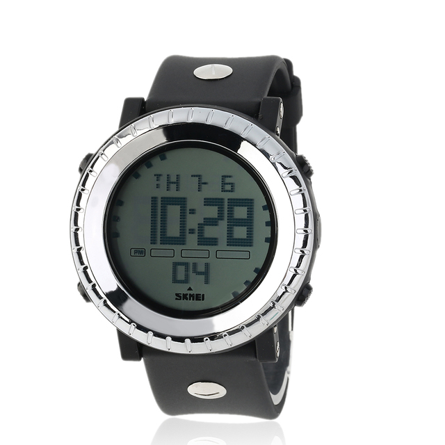 Luxury Brand Men Outdoor Sports LED Digital Watch Mulitifunctional Waterproof 5ATM Dive Boys Wristwatches Hot!
