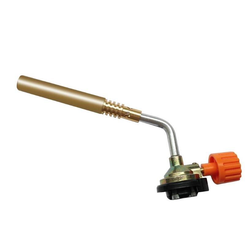 Neue Butan Gas Schweißen Löten Rohr Schlag Taschenlampe Flammenwerfer Brenner Camping Schweiß BBQ Werkzeug Messing für Schweißer Ausrüstung