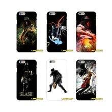 11bc2b8e72c Rock música Slash guitarras accesorios fundas de teléfono para iPhone X 4  4S 5 5S 5C SE 6 6 S 7 8 Plus