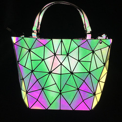 Geometric Bags for Women 2019 Purses and Handbags Nigh Light Color Changing Luminous Handbags Ladies Fashion Shopping Tote Bags