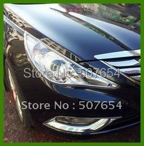 ФОТО Free shipping!High quality 2pcs Front HeadLamp Cover/Headlight cover/headlight trim  For Hyundai Sonata YF