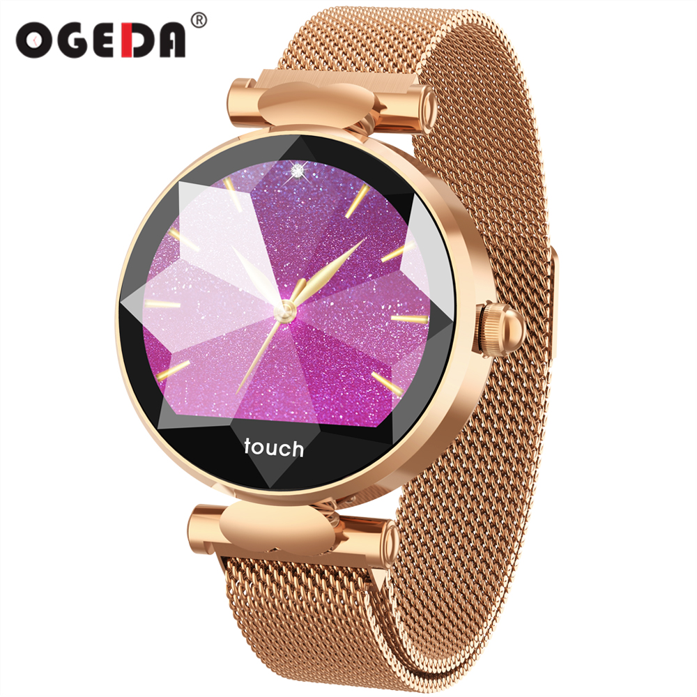 OGEDA B80 Fashion Women Smart Watch Fitness Tracker Smartwatch Heart Rate Blood Pressure Monitoring Smart Bracelet Female ModelsOGEDA B80 Fashion Women Smart Watch Fitness Tracker Smartwatch Heart Rate Blood Pressure Monitoring Smart Bracelet Female Models