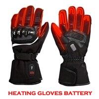 Мотоцикл отопление перчатки 3 уровня Контроль температуры перчатки с подогревом 5 пальцев и рук назад потепления 40 65 C перчатки Для мужчин дл
