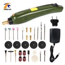 Mini caneta rotativa para gravação, ferramenta elétrica, broca, moedor, acessórios para gravação