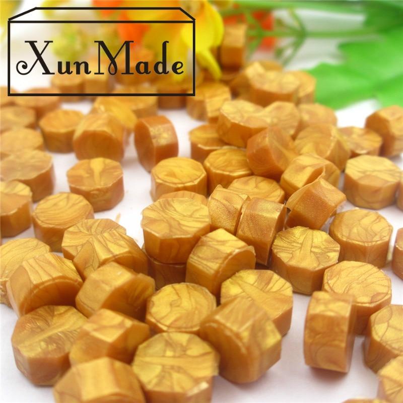 100 st. En del VARM Försäljning Tätning Vax Granulär Kornvax Special Stämpelförpackning Tätning Vax Multi Färg Högkvalitativt Förseglingsvax