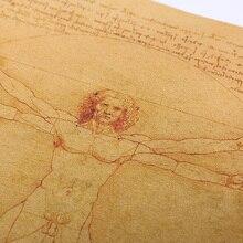 Leonardo Da Vinci's Vitruvian Man Themed Poster