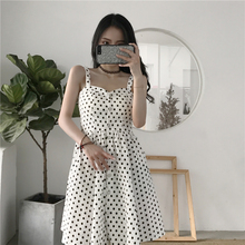 Spaghetti Strap Polka Dot Dress Woman Summer 2018 New Fashion