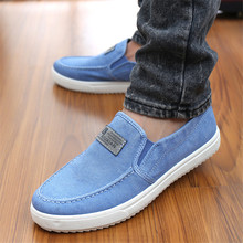 Sale top  new spring autumn fashion men canvas shoes male breathable comfortable casual lazy shoes men round toe portable flats