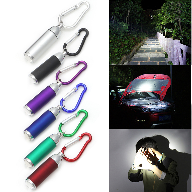 Mini Pocket LED Flashlights Portable Keychain Keyring Handy LED Light Camping Flashlight Torch Lamp Lights ...