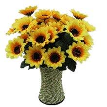 30cm Sunflower Artificial Flowers Bouquet 7 Big Head Cheap F