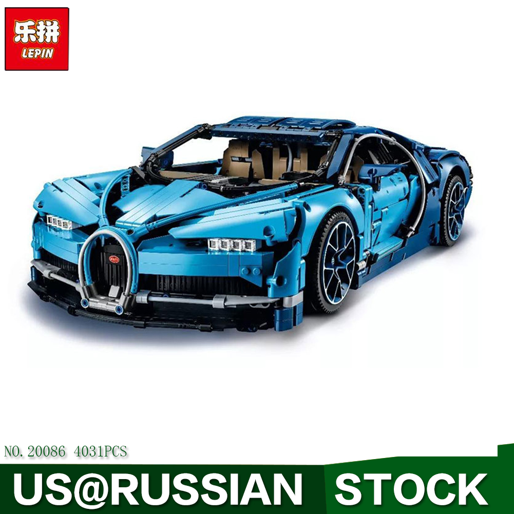 Lepin 20086 Technic Figures Chiron Racing Car Sets Compatible 42083 20001 23002 23006 20052 Model Building Kits Blocks Bricks ...