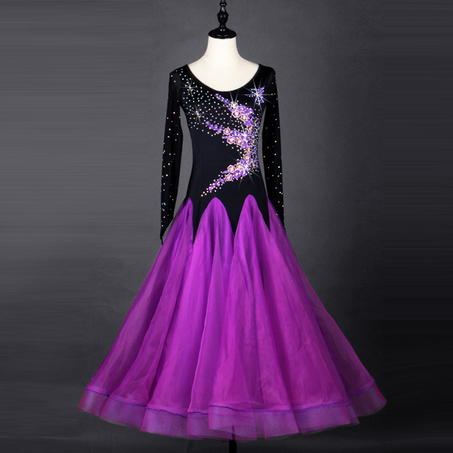 28b3604e8c purple ballroom dress woman ballroom dance clothes standard dance dresses  waltz dance costumes viennese waltz dress fringe