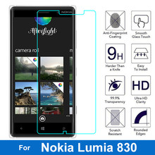 Lumia 830 N830 Tempered Glass Films For NOKIA Lumia 830 N830 Screen Protector 2.5D Round Edge 9H Hardness Anti-ShocK Protection стоимость