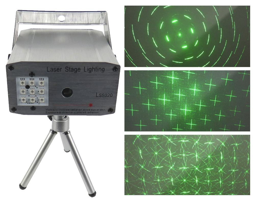 STARAUDIO 1Pc Mini Laser Stage Club Party Light W Difference Pattern Remote Music Sound Control LSS