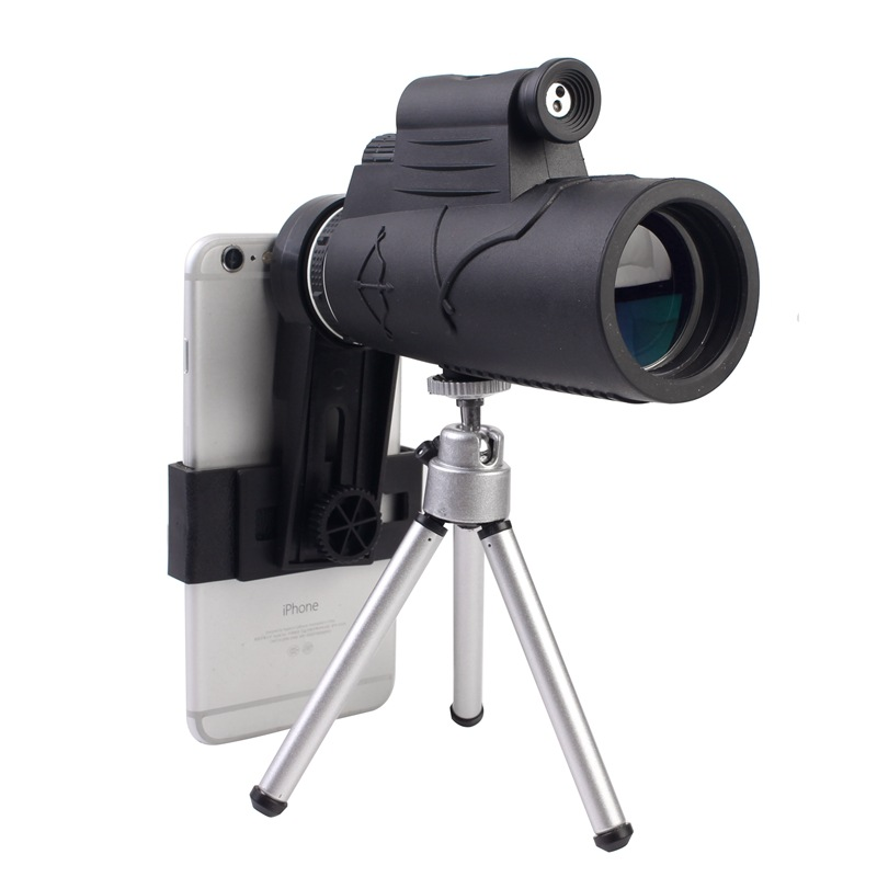 2018 New Arrival Black HD 50x60 Zoom Binocular Monocular Powerful Phone Laser Flashlight Telescope with Tripod Clip for Hunting