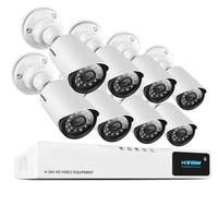 H. View 8CH система видеонаблюдения 720 P HDMI AHD 8CH CCTV DVR 8 шт. 1,0 Мп IR камера безопасности 1200 ТВЛ камера видеонаблюдения