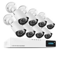 H. View 8CH CCTV система 720 P HDMI AHD 8CH CCTV DVR 8 шт. 1,0 МП инфракрасная камера системы безопасности 1200 TVL кабель для камеры CCTV системы