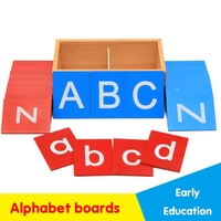 Montessori Lower And Capital Case Sandpaper Letters Boxes Wooden Toys Child Educational Early Development Learn Gift Abacus