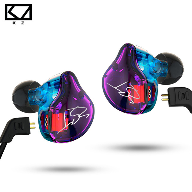 KZ ZST Pro Earphone with Microphone Dual Driver Detachable Cable In Ear Audio Monitors Noise Isolating HiFi Music Sports Earbuds