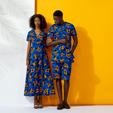 Shenbolen african couples clothes dresses for women ankara clothing Print elegant dress traditional plus size