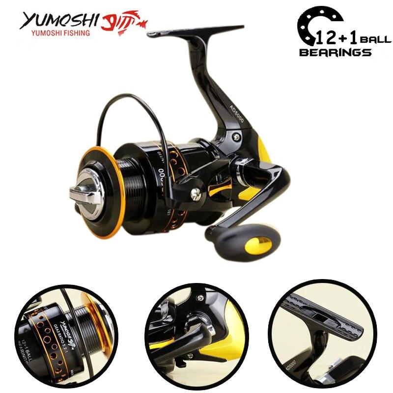 Yumoshi 12 1bb fishing reel carp fishing reels pesca for Chinese fishing reels
