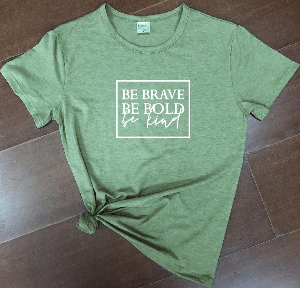 Bądź odważny bądź odważny bądź miły damski chrześcijański t-shirt slogan moda unisex grunge tumblr koszulka casual koszulki tumblr biblia tee top 3