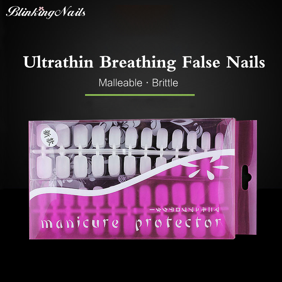 Press on nails picture more detailed picture about blinkingnails blinkingnails 288pc breathing false nail medium press on nails short false nails ultrathin clear tips acrylic prinsesfo Choice Image