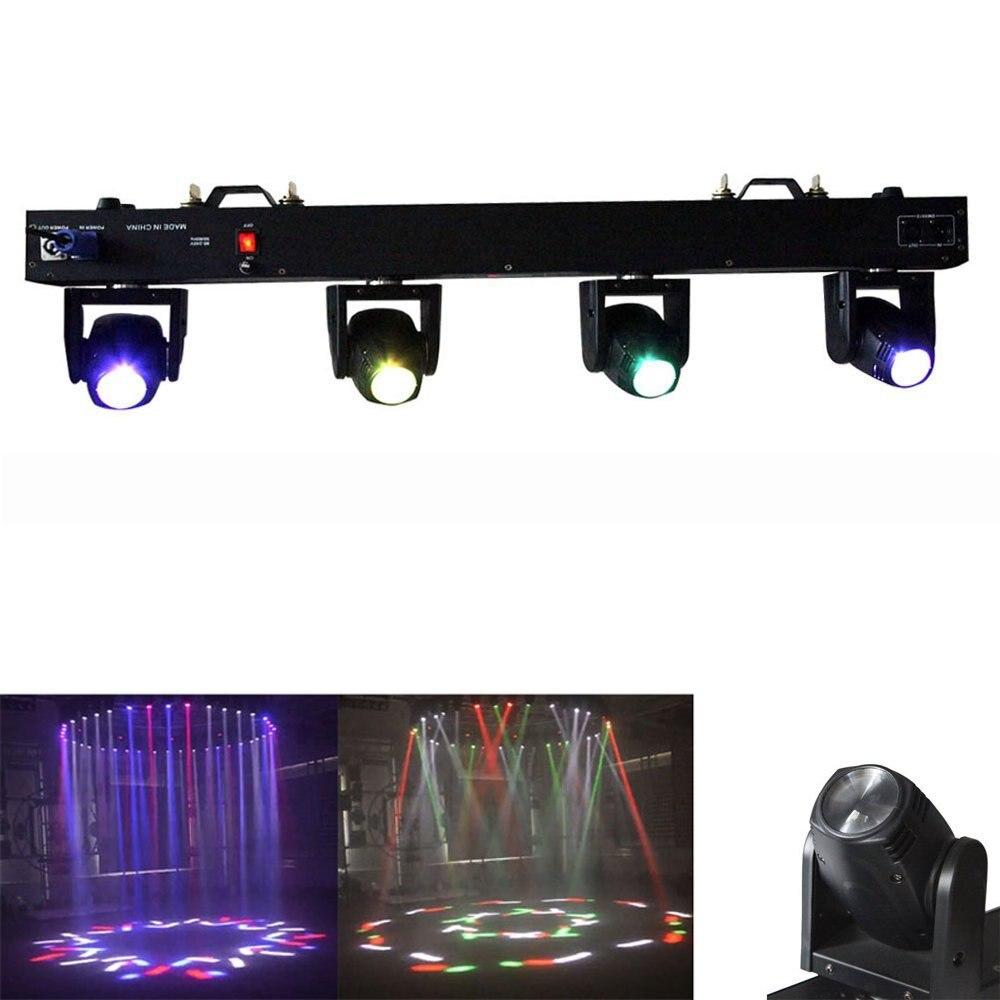 4 head led scanner par light 4x10W RGBW 4in1 led multiple moving stage lights beam uplihgting for show concert DJ KTV Bar. stage lights hook igr cl par light spotlight beam lamp head