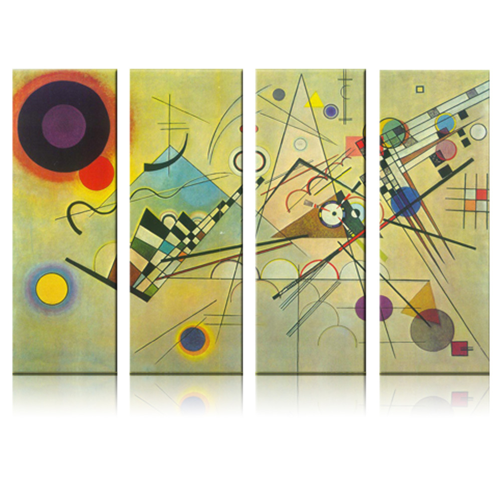 Lines modern abstract oil painting set for wall decor set of 3 ...