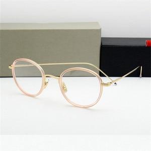 Image 5 - באיכות גבוהה עגול בצורת אצטט TB905 משקפיים מסגרת גברים רטרו משקפיים נשים קוצר ראיה קריאת eyewear Oculos דה גראו