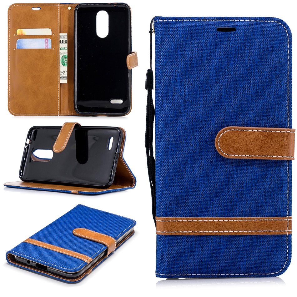 Hit Color Case For LG G7 ThinQ G6 Q8 K7 K10 K8 2017 G3 Men Girl Lady Wallet Card Slot Vintage Cloth Flip Phone Cover Bag DP07Z in Flip Cases from Cellphones Telecommunications
