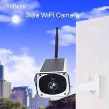 Yubeter Solar Camera Wifi Infrared Imager for Android Outdoor Security Camera Solar Wireless Webcam Road Waterproof With Battery(China)